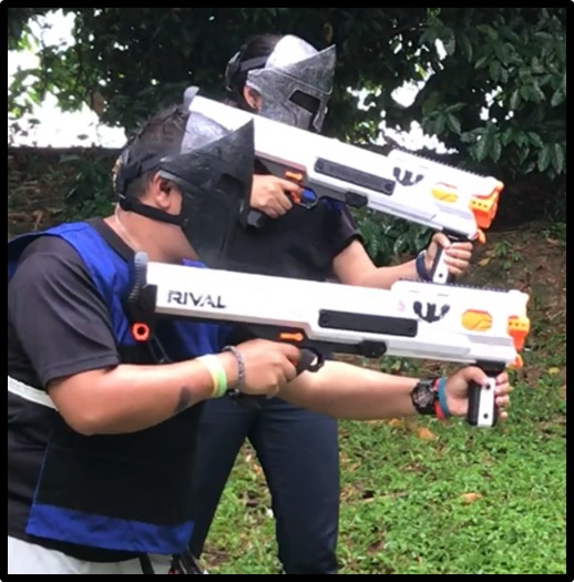 NERF RIVAL Hades for RIVAL TAG Singapore Team Building